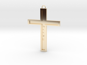 Christ personalized in 14K Yellow Gold