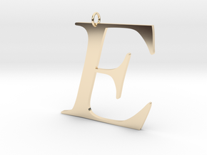 E in 14k Gold Plated Brass