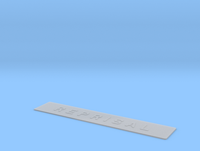 """""""REPRISAL"""" ship name sign in Smooth Fine Detail Plastic"""