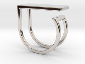 Ring with your drawing. Embossed. in Platinum