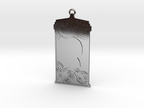 TARDIS Pendant with Six in Fine Detail Polished Silver