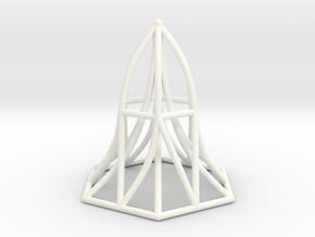 Hexagon in White Processed Versatile Plastic