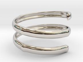 Bamboo ring(Japan 10,USA 5.5,Britain K) in Rhodium Plated Brass