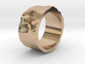 Stone age ring - size 6 US in 14k Rose Gold