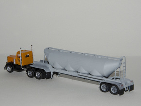 HO 1/87 Dry Bulk Trailer 01 in White Strong & Flexible