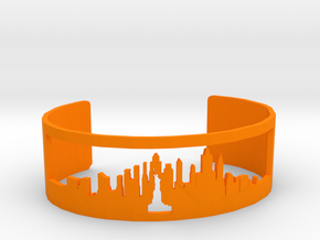 New York Skyline Cuff in Orange Strong & Flexible Polished