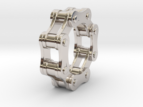 Violetta L. - Bicycle Chain Ring in Rhodium Plated Brass: 9 / 59