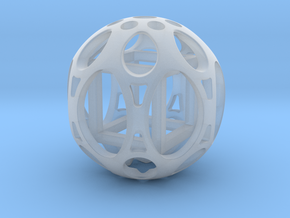 Sphere housing a mobile cube in Smoothest Fine Detail Plastic