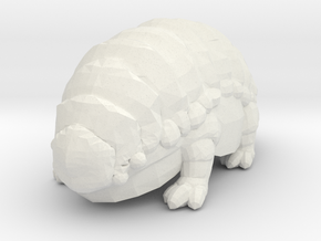 Fluffy The Alien Armadillo in White Strong & Flexible