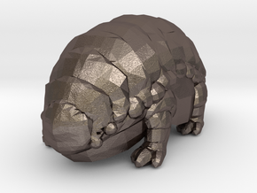 Fluffy The Alien Armadillo in Polished Bronzed Silver Steel