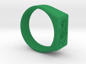 Size 12 Symbols Classic Rock 70's  in Green Processed Versatile Plastic