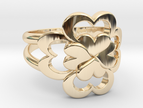Size 10 Wife Ring  in 14k Gold Plated Brass
