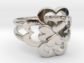 Size 9 Wife Ring  in Rhodium Plated Brass