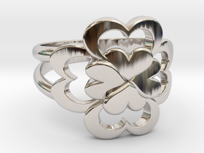 Size 11 Wife Ring  in Rhodium Plated Brass