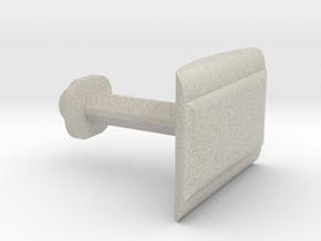 Customizable Cufflink   in Natural Sandstone