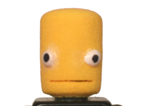 Lego Head KSP (basic) in White Strong & Flexible