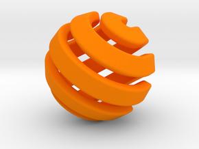 Ball-11-2 in Orange Processed Versatile Plastic