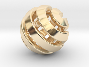 Ball-11-3 in 14k Gold Plated Brass