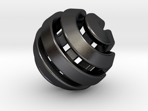 Ball-11-3 in Polished and Bronzed Black Steel