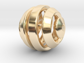 Ball-11-5 in 14k Gold Plated Brass