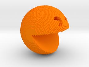 Pacman pixelated from 'PIXELS 2015' movie in Orange Processed Versatile Plastic