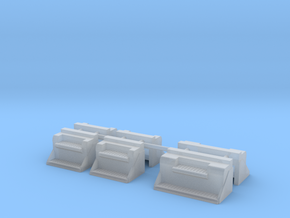 1/87th Kenworth type Vintage step battery boxes in Smooth Fine Detail Plastic