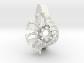 SolarCrest Ring. Part of garniture. in White Natural Versatile Plastic