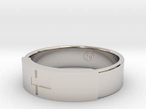 Ring with jesus in Platinum