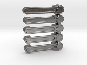 Axial JK Rubicon Door Handle **Set of 5** in Polished Nickel Steel