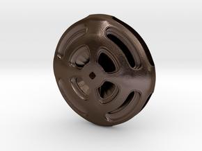 Ufo Toy Twister in Polished Bronze Steel
