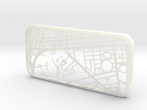 HTC One M8 Hong Kong Mongkok Map Phone Case in White Processed Versatile Plastic