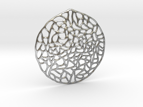 Mosaic Pendant in Natural Silver
