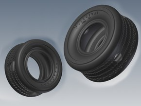 SEVEN Tugboat Tires in Black Natural Versatile Plastic