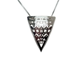 Aztec Pendant in Natural Silver