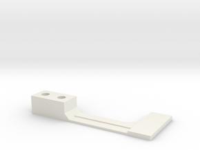 Flipper Switch Mod Bracket/Isolator (Right Side) in White Natural Versatile Plastic
