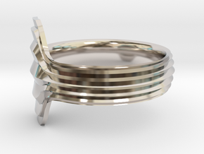 New Ring Design  in Rhodium Plated Brass