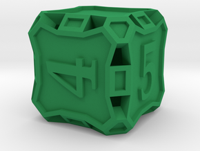 Die6 - Custom in Green Strong & Flexible Polished