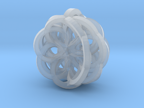 Flower Pendant in Smooth Fine Detail Plastic