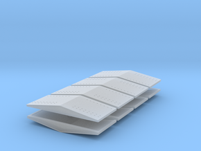 #5a  Ballast Car End Roofs in Smooth Fine Detail Plastic