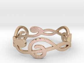 Size 10 G-Clef Ring A in 14k Rose Gold Plated Brass