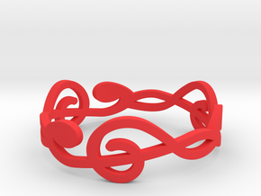 Size 10 G-Clef Ring A in Red Processed Versatile Plastic