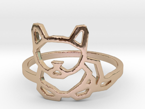 Petite Cat Ring in 14k Rose Gold Plated Brass: 6 / 51.5