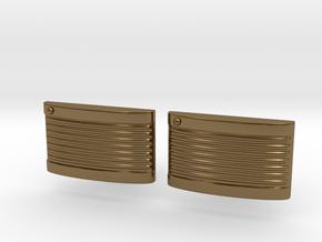Retro Cufflinks in Polished Bronze