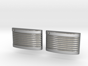 Retro Cufflinks in Polished Silver