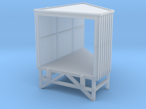 N Angular Loading Dock Left in Smooth Fine Detail Plastic