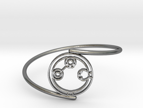 Adaline - Bracelet Thin Spiral in Polished Silver