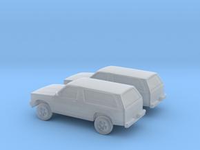 1/160 2X 1984 Chevrolet S10 Blazer in Smooth Fine Detail Plastic