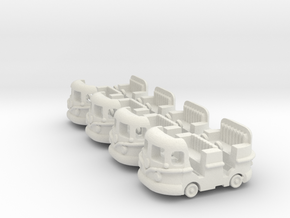 Groovy Bus 4 PackM in White Natural Versatile Plastic