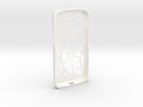 Nexus 4 Hong Kong Mongkok Map Phone Case in White Processed Versatile Plastic
