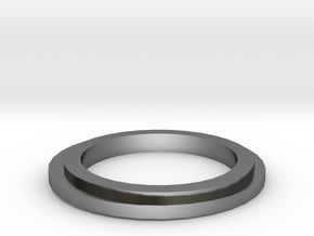 Ring middle 19 mm in Polished Silver